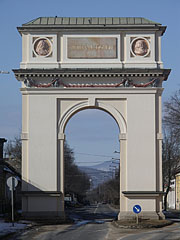 The only one Triumphal Arch building in current Hungary - Vác (Vacov), Maďarsko