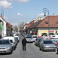 The Kolosy Square that is full of cars - Budapešť, Maďarsko