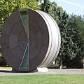 "The Time Wheel (""Időkerék"") is a giant hour glass which was created for the Europen Uniun accession of Hungary - Budapešť, Maďarsko"