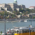 The Royal Palace in the Buda Castle, viewed from Pest - Budapeşte, Macaristan