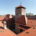 The top of the Gyula Castle with the tower, viewed from the castle wall - Gyula, Macaristan