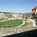 The courtyard of the inner castle with a paddock for the horses - Sümeg, Macaristan