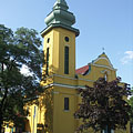 The neo-baroque style Sacred Heart of Jesus Parish Church - Ajka, Ungaria