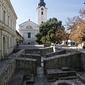 The ruins of turkish Memi Pasa's Baths, beside the Franciscan church - Pécs, Ungaria