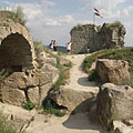 Ruins and rocks in the Upper Castle - Sirok, Ungaria