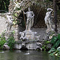 The statue group of the Neptune Fountain - Trsteno, Croacia