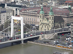 The Március 15. Square before the renovation, viewed from the Gellért Hill - Budapest, Hongrie