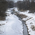 """The Szilas Stream (""""Szilas-patak"""") in winter - Budapest, Hongrie"""