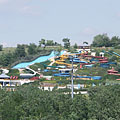View of the aquapark from Hungaroring - Mogyoród, Hongrie