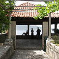 Pavilion with view to the Adriatic Sea, and the Lopud Island (part of the Elaphiti Islands) - Trsteno, Kroatia