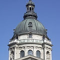 The dome of the neo-renaissance style Roman Catholic St. Stephen's Basilica - Budapeszt, Węgry