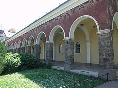 The sgraffito decorated archway of the Tisza Hotel, Spa and Thermal Bath - Szolnok, Унгария
