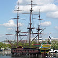 "The ""Amsterdam"" was a sailing cargo ship of the Dutch East India Company (so-called VOC ship or East Indiaman class ship) - Amsterdam, Niederlande"