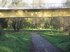The section of the bicycle path under the Drava Bridge - Barcs, Ungarn