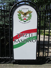 The board of the Officers' Club - Budapest, Ungarn