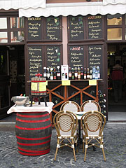 Bikavér Borház (Wine Bar), selection of their wines - Eger (Erlau), Ungarn