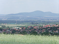 Outlook to the mountains on the other side of River Danube from the gentle slopes of Somlyó Hill - Mogyoród, Ungarn