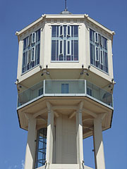 The Water Tower was recently converted to a lookout tower - Siófok, Ungarn