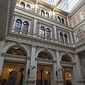 The atrium of the university, a glass-roofed inner courtyard - Budapest, Ungarn