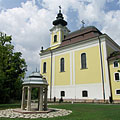 "The baroque style Basilica of the Assumption of Virgin Mary (""Nagyboldogasszony Bazilika"") - Gödöllő, Ungari"