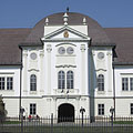 The white Forgách Mansion seems to be shine in the spring sunshine - Szécsény, Ungari