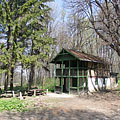 """The former hunting lodge called """"Ash House"""" (in Hungarian """"Hamuház""""), it is today a rented holiday chalet - Bakony Mountains, Ungarn"""
