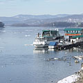 River Danube at Vác in wintertime - Vác, Ungarn
