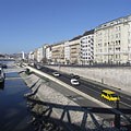 The Pest-side embankment from the Liberty Bridge - Budapest, Ungern