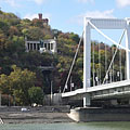 "Statue of Bishop St. Gerard (""Szent Gellért""), and the Elisabeth Bridge - Budapest, Ungern"