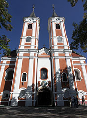 The baroque Roman Catholic pilgrimage church, dedicated to the Visitation of Our Lady - Máriagyűd, Ungern