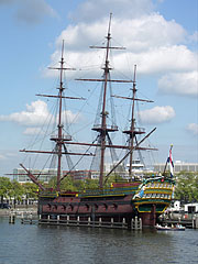 """The """"Amsterdam"""" was a sailing cargo ship of the Dutch East India Company (so-called VOC ship or East Indiaman class ship) - أمستردام, هولندا"""