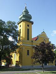 The neo-baroque style Sacred Heart of Jesus Parish Church - Ajka, Hungary