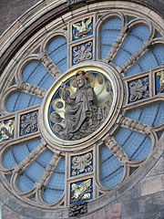The rosace (rose window) of the Sint Nicolaaskerk (St. Nicholas Church) - Amsterdam, Netherlands