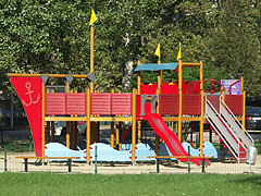 Playground with slides and climbing frames - Balatonfüred, Hungary