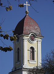 The steeple of the Roman Catholic church of Barcs - Barcs, Hungary