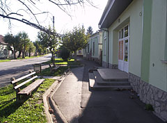 Details of the main street at the medical station - Barcs, Hungary