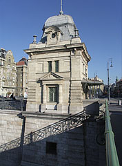 "Former customs house at the Pest side of the Liberty Bridge (""Szabadság híd"") - Budapest, Hungary"