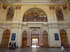 The decorated waiting hall of the Keleti Railway Station (the so-called Lotz Hall) - Budapest, Hungary