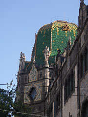 The green dome of the Museum of Applied Arts - Budapest, Hungary