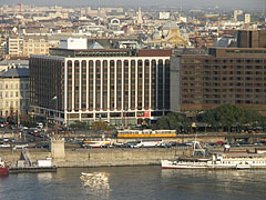 The well-known hotels on the Pest-side banks of the Danube: the Hotel Sofitel Budapest and the Hotel InterContinental - Budapest, Hungary