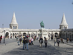 """Multi-storey special lookout terrace called the Fisherman's Bastion (""""Halászbástya"""") - Budapest, Hungary"""