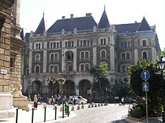 The French-renaissance style Dreschler Palace (former ballet Institute), viewed from the Opera House - Budapest, Hungary