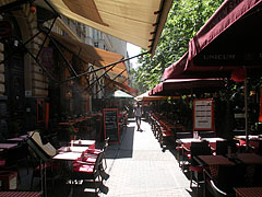 Terraces of restaurants and cafes - Budapest, Hungary