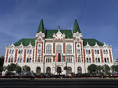 The eclectic-secession style Town Hall of Újpest was built in 1900 - Budapest, Hungary