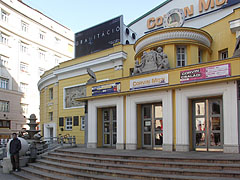 The entrance of the presigious Corvin Cinema, also known as Corvin Budapest Film Palace - Budapest, Hungary