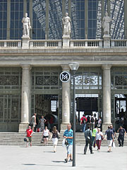 The main entrance of the Keleti Railway Station - Budapest, Hungary