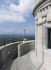 From the top it is the second floor of the lookout tower - Budapest, Hungary