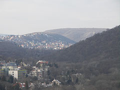 "View to the Ördög Valley (""Ördög-árok""), towards Lipótmező and Hűvösvölgy quarters, from the Apáthy Rock - Budapest, Hungary"