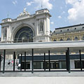 The Keleti Train Station with the half covered modern pedestrian subway system - Budapest, Hungary