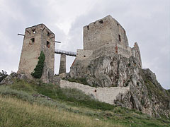 The ruins of the medieval Castle of Csesznek at 330 meters above sea level - Csesznek, Hungary